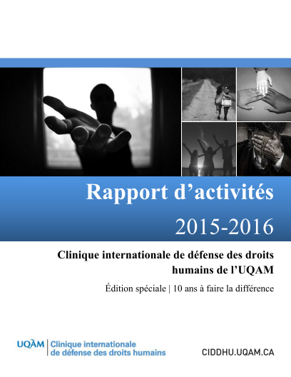 Rapport annuel 2015 2016