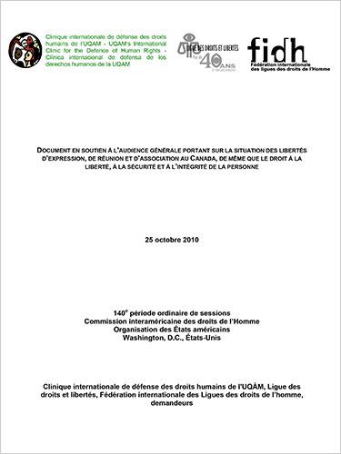 Clinique internationale de défense des droits humains de l'UQAM